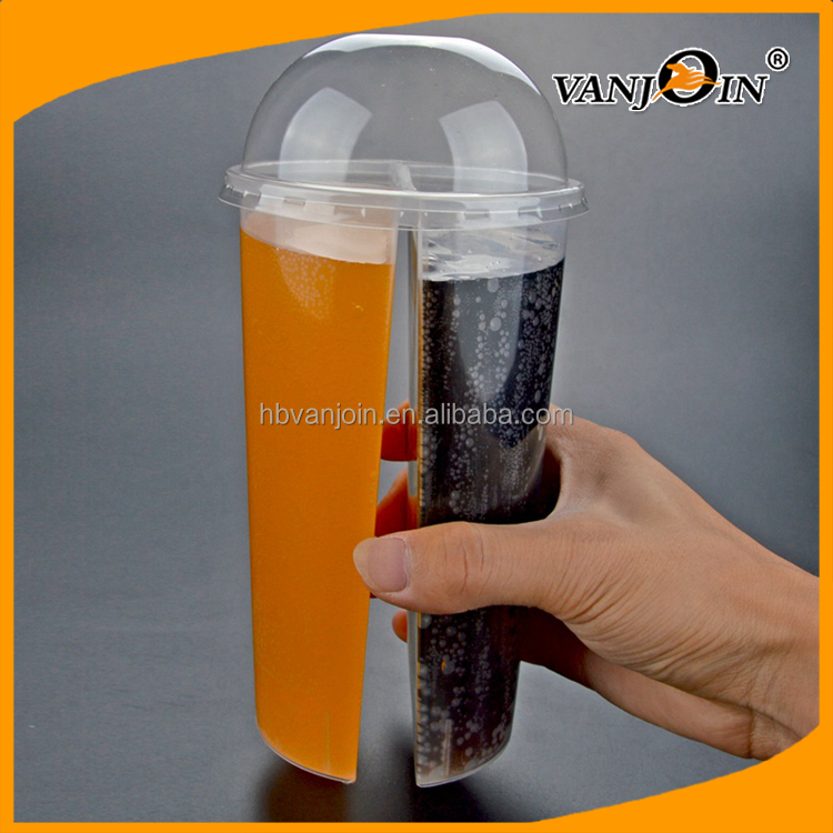 New Style Popular 700ml Milk Tea Cups PP Plastic for Lovers Bubble Tea Cups