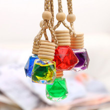 Diamond sharp car air freshener empty hanging perfume bottle for car