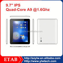 9.7 Inch Rockchip RK3188 Quad core ETINA 2048*1536 tablet pc with 2 usb host port