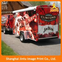 Custom Logo Printing Vehicle Vinyl Wrap Sticker For Advertising