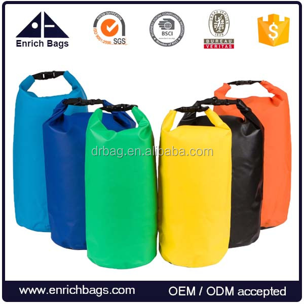 PVC Waterproof Floating Dry Gear Bags With Shoulder Strap for Boating, Kayaking, Fishing, Rafting, Swimming and Camping