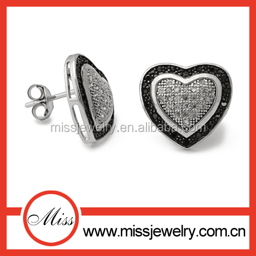 Fashion accessories for jewelry wholesale china heart shaped earrings