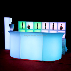 Wholesale night club lighting bar glowing illuminated led light table bar counter design