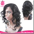 top beauty 14 inch indian natural hair lace front wig, big wave virgin human hair wigs for sale