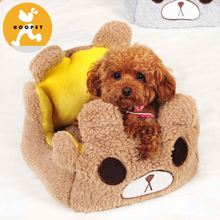 Cute small bear affordable dog kennel pet beds supplies