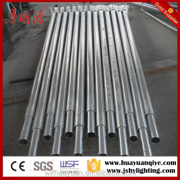 Road street round tapered residential galvanized pole price