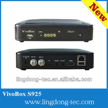 DVB-S2 nagra 2 nagra 3 decoder vivobox s925 free SKS hot sell in South America