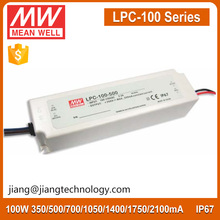 100W 1400mA 36~72V Constant Current LED Driver LPC-100-1400 Meanwell IP67 Power Supply