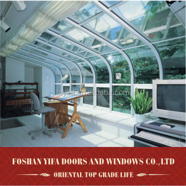 Commercial aluminum frame prefabricted glass houses