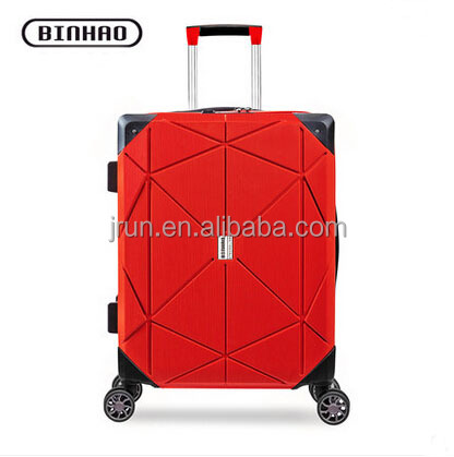 wine red aluminum frame hard case luggage carrier
