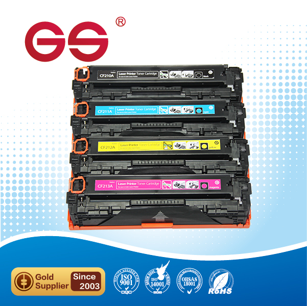Zhuhai factory bulk supply CF210 color printer toner cartridges for hp