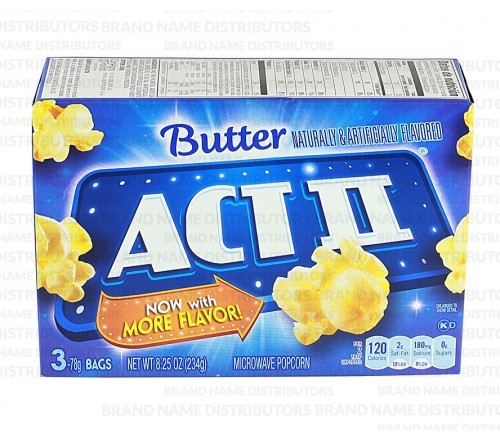 ACT II Microwave Popcorn Butter 3pk 12 8.25 oz