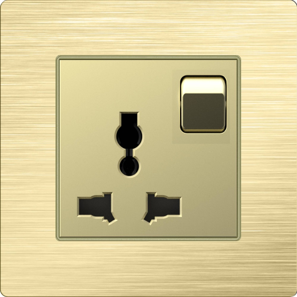 Universal 220V power socket and usb wall outlet eu type plugge, star hotel use