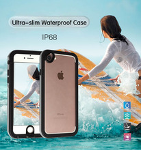 Ultra-slim Clear Waterproof Protective Case for iPhone 6/6S Underwater TPU Skin IP68 Life Water Proof Case Cover for iPhone 7