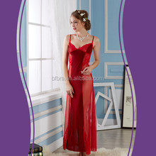 Good price breathable knitted ladies beautiful nightgown