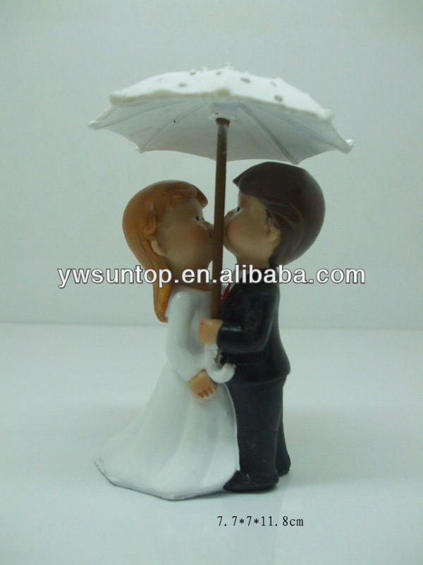Showered with Love Couple Figurine for wedding cake toppers