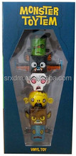 custom made bricks mummy monsters vinyl toys/oem kids cartoon assemble vinyl toys/custom plastic vinyl toys factory price