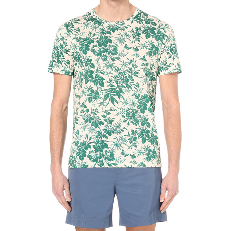 Mens polyester floral t shirts for sublimation printing for Polyester t shirts for men