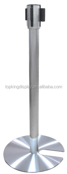 Silver Stanchion with U Shape Base for sale
