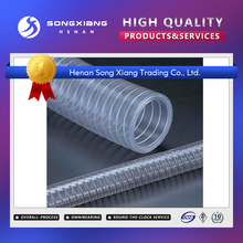 PVC spiral steel wire reinforced hose/ transparent pvc tube/pipes