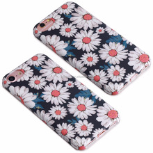 TPU case cellphone , Soft tpu for iphone cases, for iphone 6/7 case universal flower designs