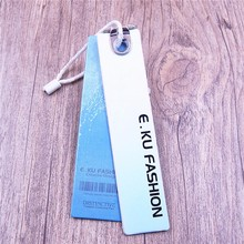 recycled Customized printed digital product cloth hangtag paper hang tag for Towels/Glove/Bags