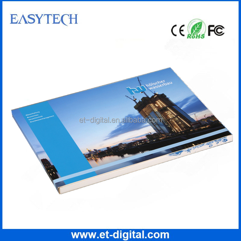 2017 festival/business greeting card blue print lcd digital video brochure