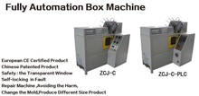 High speed Patent automatic paper food box making machine with a free mold