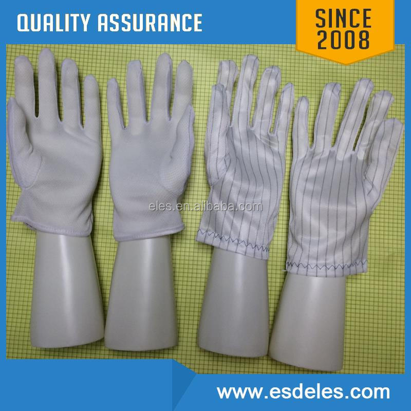 Breathable Nylon Finger Coated PU Top Fit ESD Gloves, Antistatic Glove