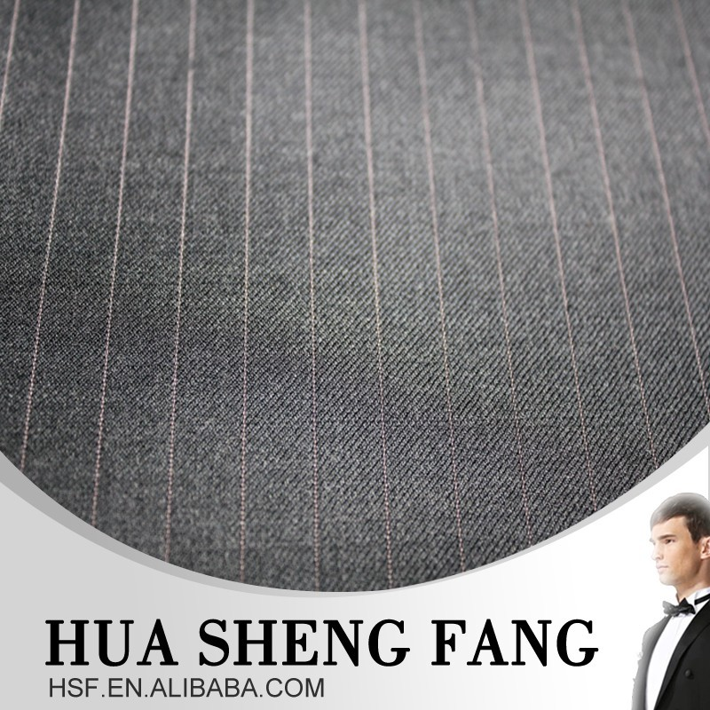 Wholesale Machine Washable Striped 100% wool suit fabric