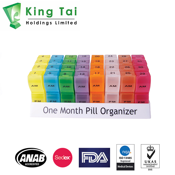 Monthly AM/PM Pill Box Organizer - Sedex, FDA, ANAB, ISO Accredited Pill Organizer