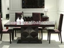 2014 Divany Neo-classical furniture dining table white oak dining table and chairs LS-201A