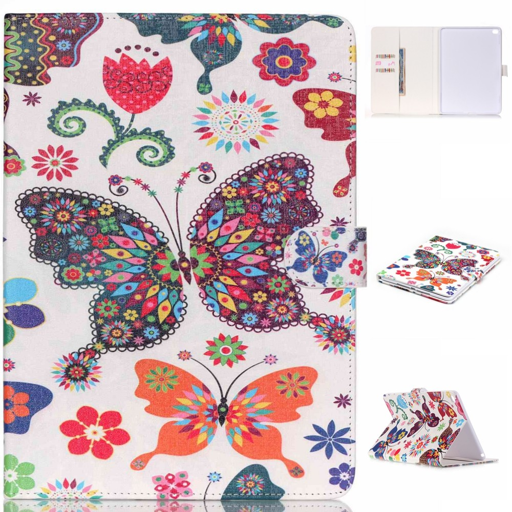 Case for ipad Air 2, for iPad Air 2 Colorful Flower Wallet PU Leather Case