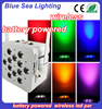 12pcs 18w 6in1 rgbwa uv colorful rechargeable battery led table lamps