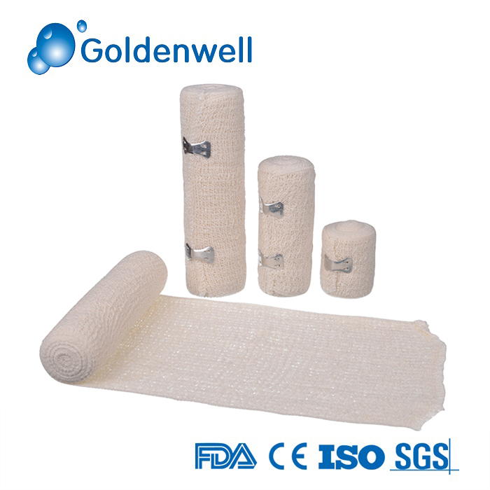 Medical Cotton Elastic Crepe Bandage Factory with CE&ISO&FDA
