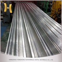 0.7 mm thick color corrugated metal long span aluminum roofing sheet