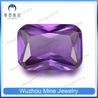 new product rectangle synthesis of amethyst for jewelry