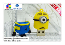2015 New Cartoon Minions Toy model USB 2.0 Memory Stick Flash pen Drive 4GB 8GB 16GB 32GB