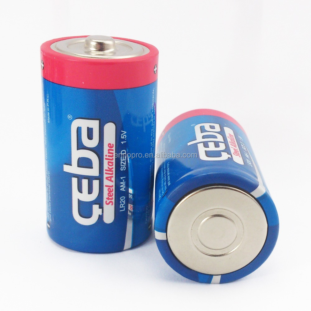 CEBA 1.5V d batteries Primary 1000mah Dry Cell lr20 alkaline battery