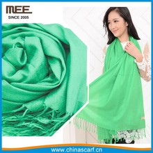 fashion candy colors fringe acrylic green women pashmina scarf