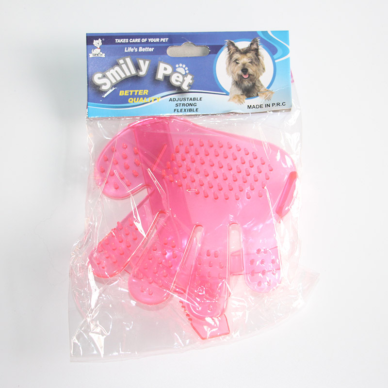 Pet bath glove/massage brush/pet grooming brush