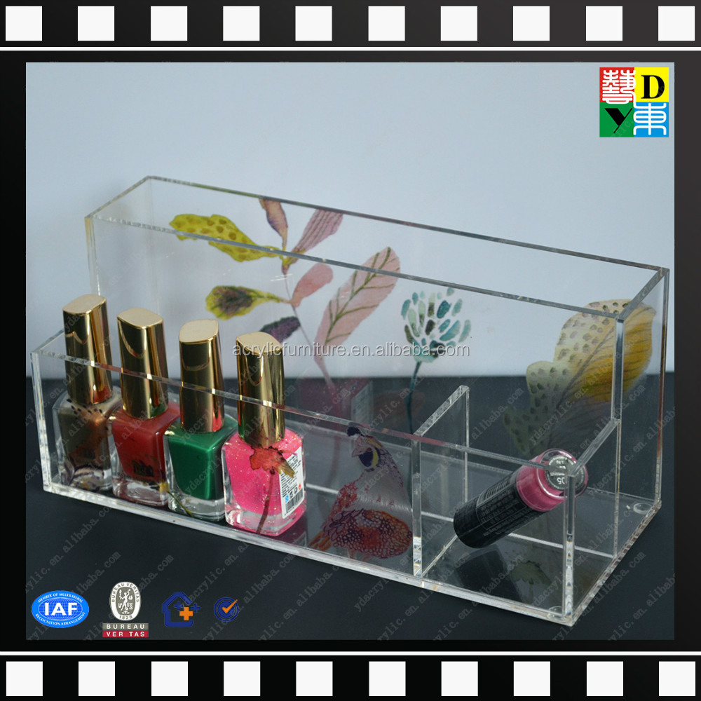 Modern clear custom design acrylic makeup organizers nail polish display From China