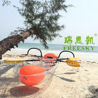 Clear Bottom Plastic Canoe Ocean Kayak,Transparent Fishing Boats For Sale