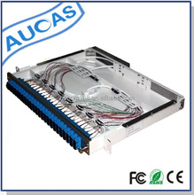Network Rack Mount Fiber Optic Termination Box Similar To AMP 24 Port Patch Panel Factory Price