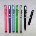 4 In 1 Multi-Function Stylus Pen White Light Red Laser and Ballpoint Pen