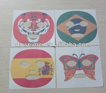 Big Size Of Temporary Full Face Mask Tattoos