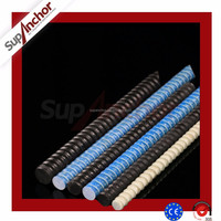 SupAnchor FRP Fiberglass Rock Anchoring Bar Dry Wall for Underground Mining Support