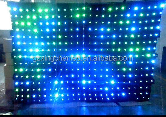 event decoration dmx 392pcs 5mm rgb led video backdrop curtain