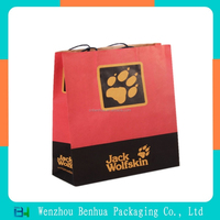 Customized handle fancy paper gift bag