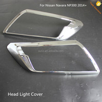 NEW CHROME HEADLIGHT FRONT COVER LAMP FOR NAVARA NP300 2014 2015 PICKUP